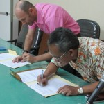 Penandatanganan kerjasama  Puslitbang Perikanan dengan IRD Perancis